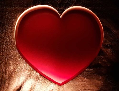 Pink Heart in wood